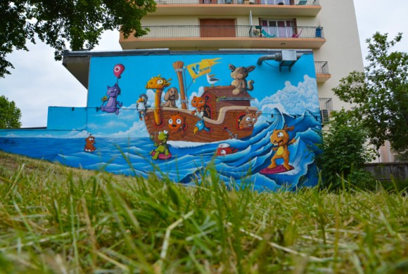 Fresque graffiti gap