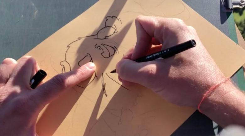 vidéo complète dessin en parapente