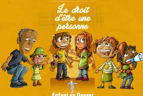 Illustrations et mise en page pour Enfant en danger