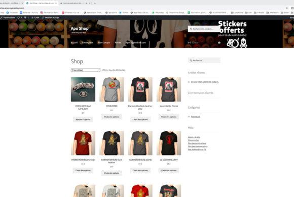 Le site de vente est a jour !